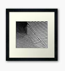 Bench Shadows (Worldwide Photowalk) Framed Print