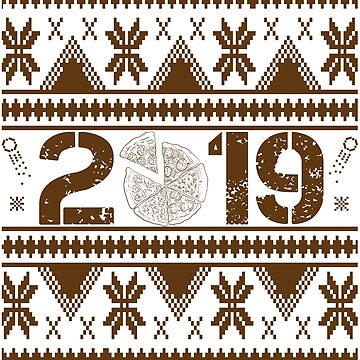 Pizza New Year 2019 by iwaygifts