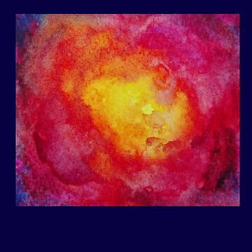 watercolor galaxy red by downeymore