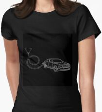 car pattern Women's Fitted T-Shirt