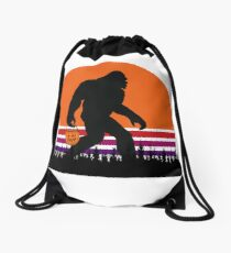 Bigfoot In Graveyard Funny Sasquatch Bigfoot Halloween Costume Drawstring Bag