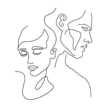 Lovers One Line by draw4you