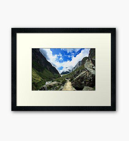 Path to heaven Satopantha trek Framed Print