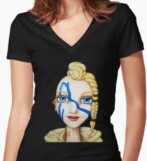 Huntress (Watercolor Version) Women's Fitted V-Neck T-Shirt