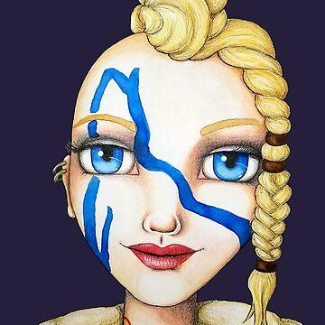 Huntress (Watercolor Version) by LittleMissTyne