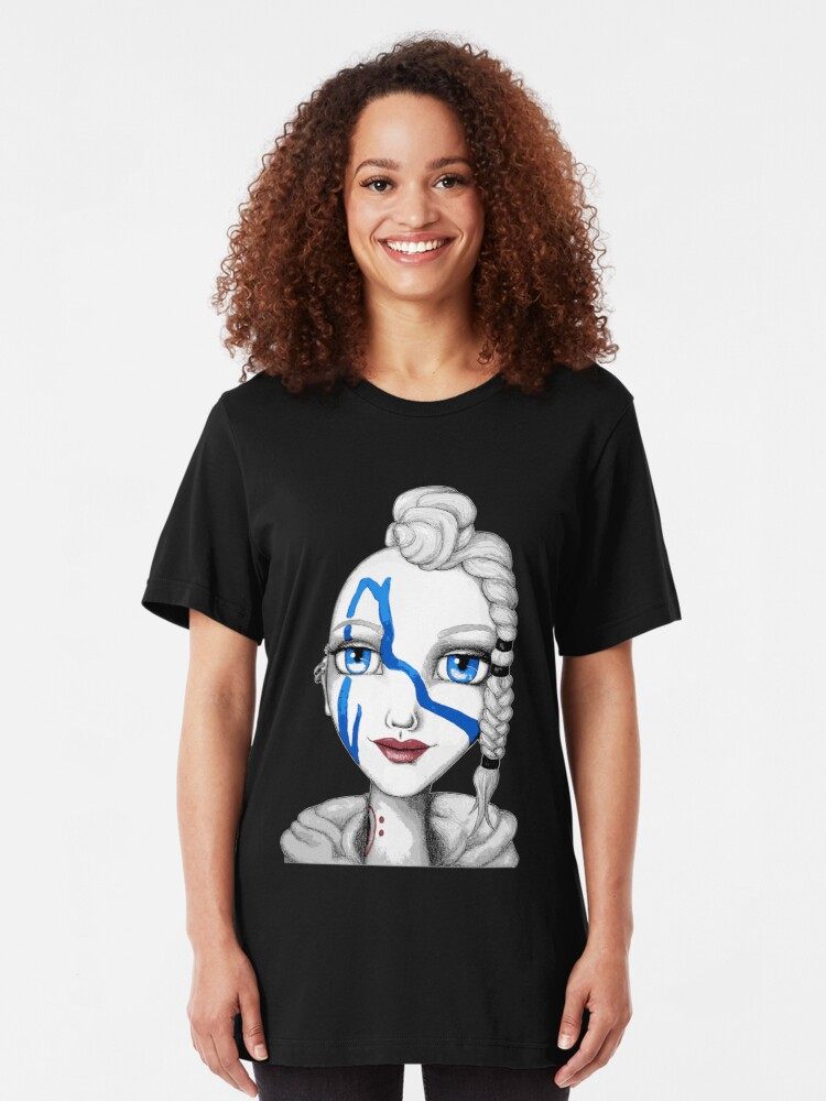 Alternate view of Huntress (Digitized Version) Slim Fit T-Shirt