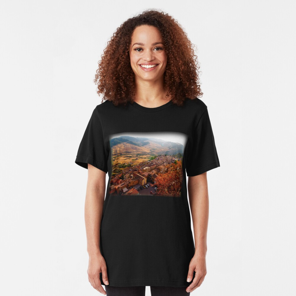 View over Sperlinga, Sicily Slim Fit T-Shirt