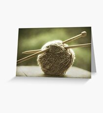 ball of yarn Greeting Card