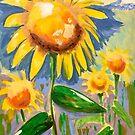 Shining Sunflowers by Filomena Jack