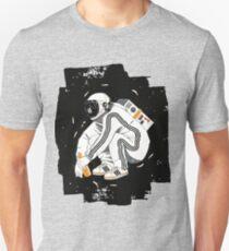 Hockender Gopnik Slawisch mit Trainingsanzug im Weltall Slim Fit T-Shirt