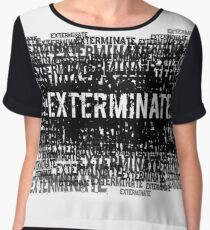Exterminate 1  Chiffon Top