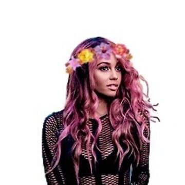 Vanessa Morgan with a flower crown by dibbledabbles