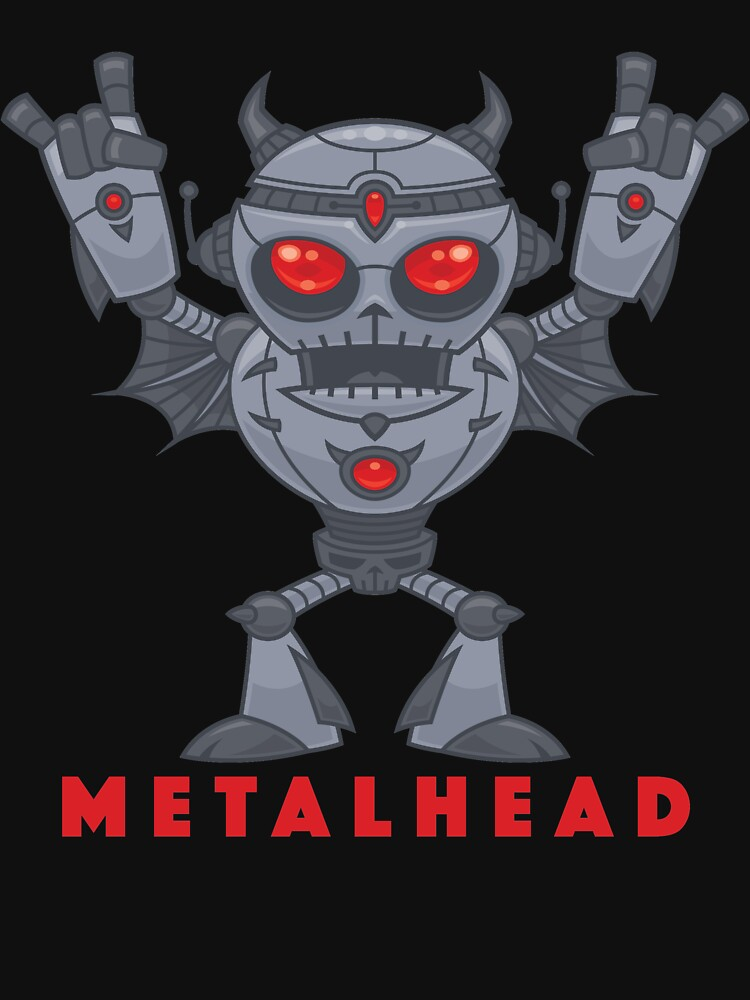 Metalhead - Heavy Metal Robot Devil - With Text by fizzgig
