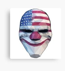 Dallas Mask Payday Canvas Print