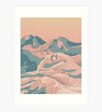 I Saw Her Face In The Mountains Art Print