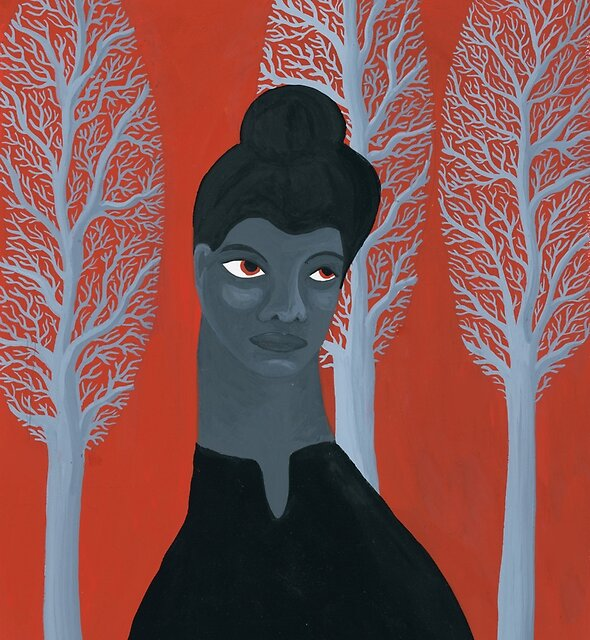 Portrait of activist Ida B. Wells by zsalto