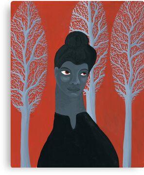 Portrait of activist Ida B. Wells Canvas Print