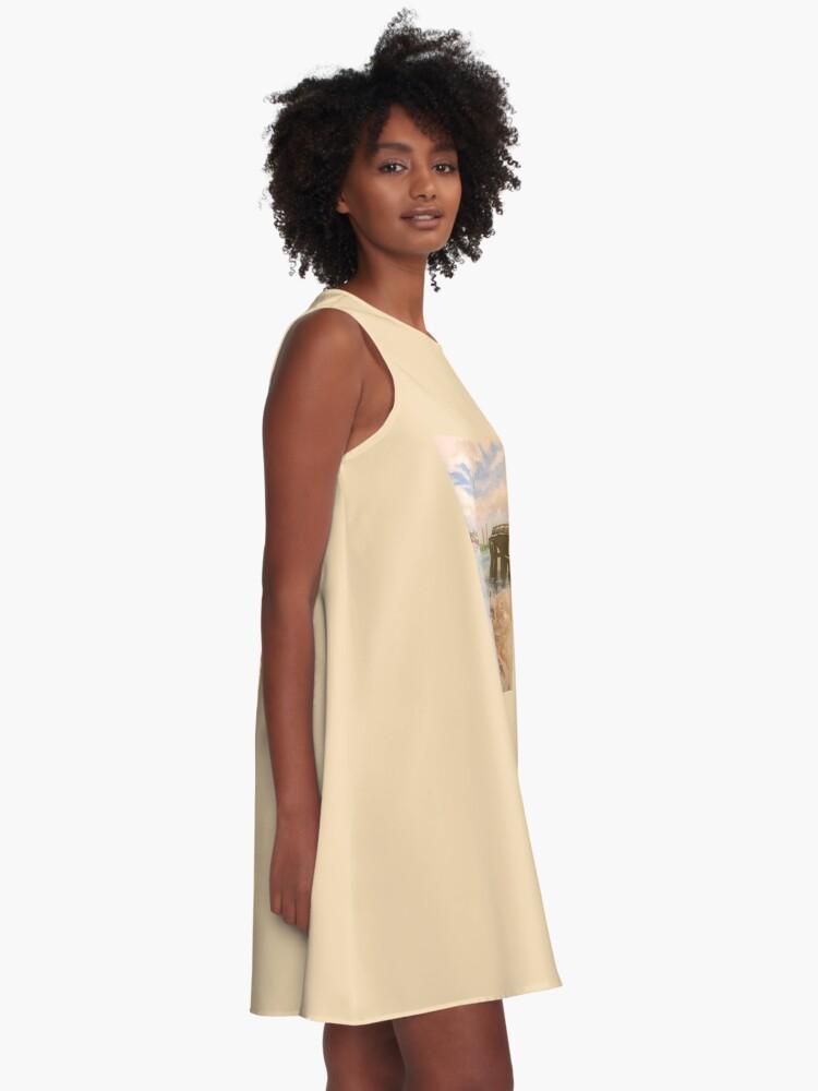 Alternative Ansicht von Schwäne A-Linien Kleid