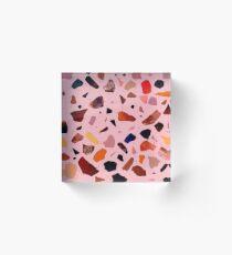 Terrazzo Rosé Acrylic Block