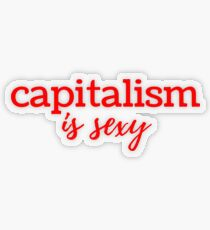 Capitalism is Sexy Transparent Sticker