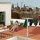 Olor a azahar - Sunbathing on the rooftop by Nagore Rementeria