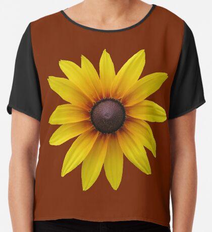 zauberhafte gelbe Blume, Blüte, Sommer, Sonne Chiffontop für Frauen