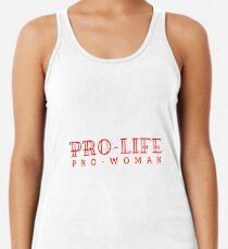 Pro-life, pro-woman Racerback Tank Top