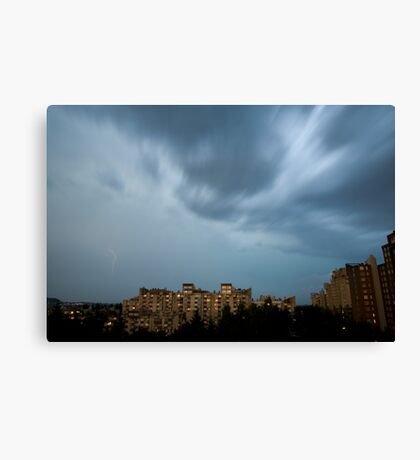Storm over Ljubljana, Slovenia Canvas Print