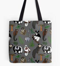 Lemur Pattern Tote Bag