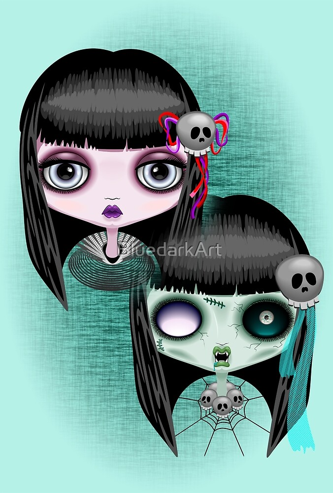 Zombie Doll The Dark Side  by BluedarkArt