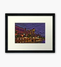 Rainy Night at the Theater Framed Print