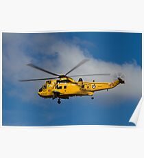 RAF Search and Rescue Sea King Poster