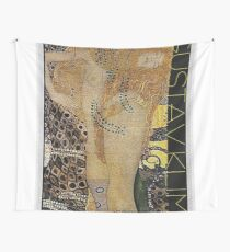 Portrait in Gold and Black ... by Gustav Klimt Wall Tapestry