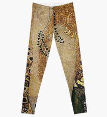 Portrait in Gold and Black ... by Gustav Klimt Leggings