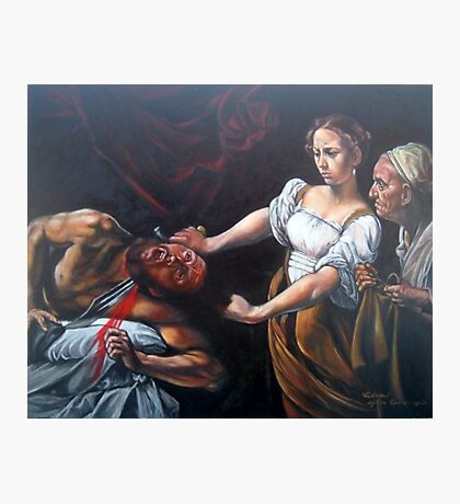 Judith Beheading Holofernes after Caravaggio Photographic Print
