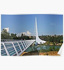 Sundial Bridge - Turtle Bay, California Poster