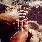 Feet in the Sand by Gene  Tewksbury
