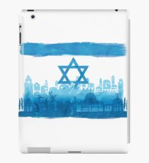 Israeli Flag & City skyline - watercolor iPad Case/Skin
