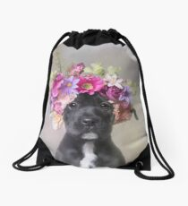 Flower Power, Joey Drawstring Bag