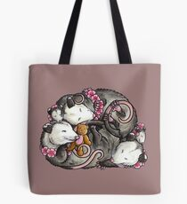 Sleeping Opossums Tote Bag