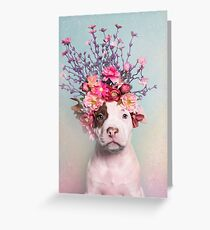 Flower Power, Rum Greeting Card