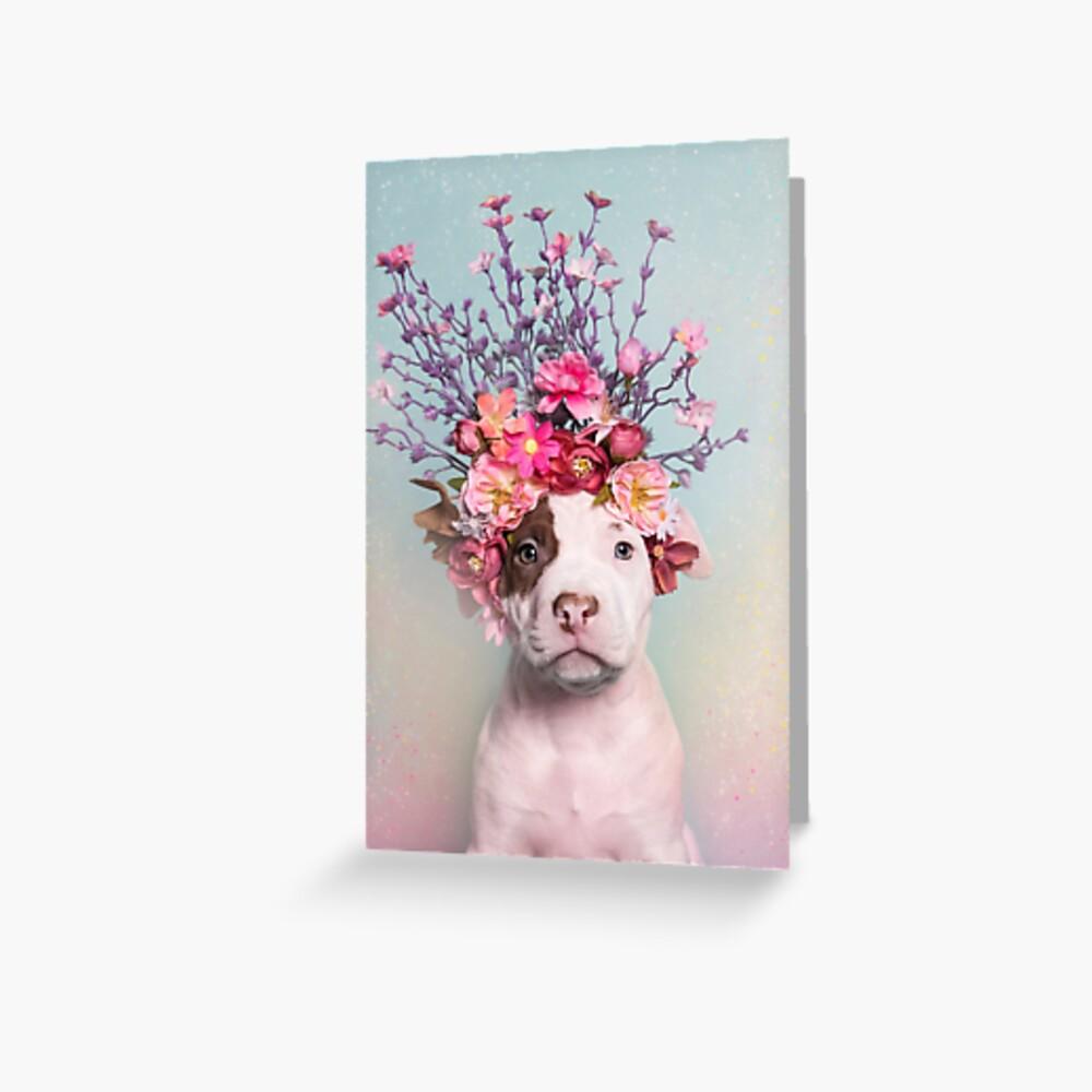 Flower Power, Rum Greeting Card