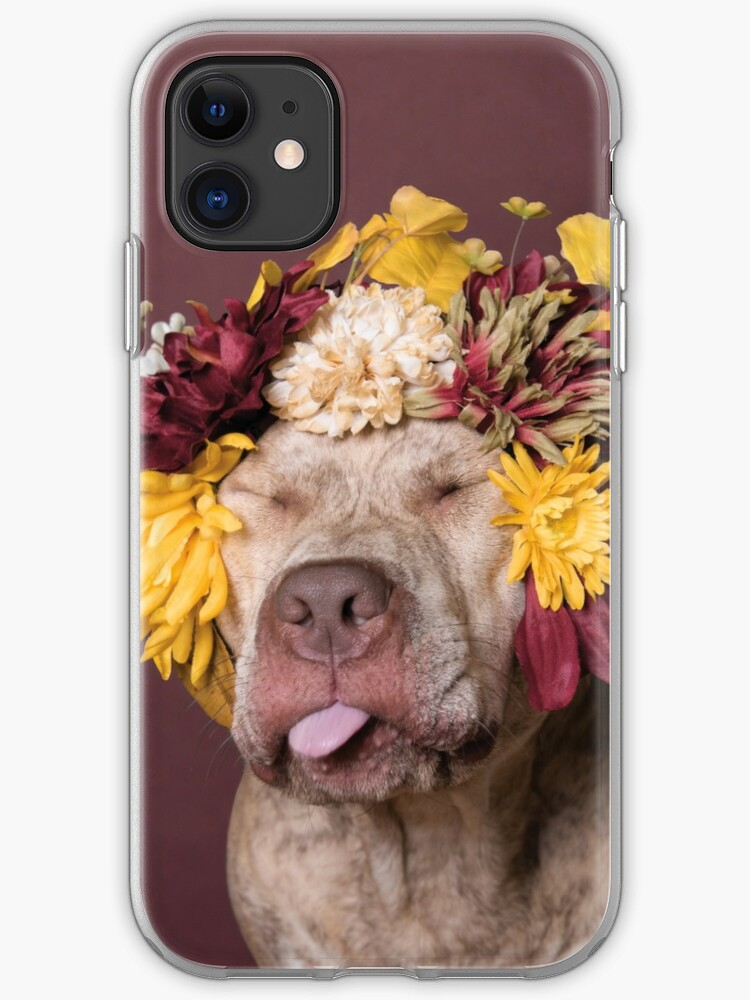 Puppy Flower Power Topaz iphone case