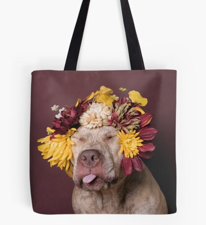 Flower Power, Walter being silly Tote Bag