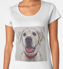 Yellow Lab Art, Cute Yellow Labrador Retriever Art Women's Premium T-Shirt