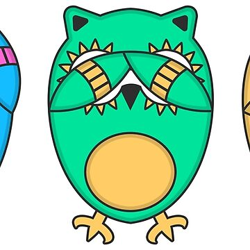 Hear no Evil: Owls by JayJaxon