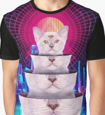 Trippy Three-Eyed Kitten Vintage Retro Punk Style - T-Shirts Graphic T-Shirt