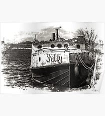 Fishing Vessel Shelly Poster