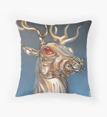 Golden Deer Throw Pillow