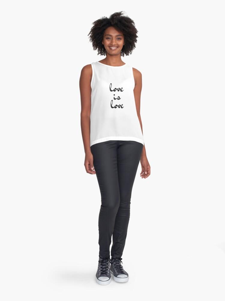 Alternate view of love is love  Sleeveless Top